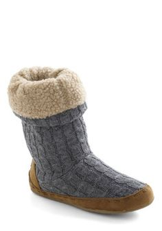 Cozy Cachet Slipper in Charcoal, #ModCloth