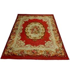 Antique Aubusson French Carpet Rug | 1stdibs.com