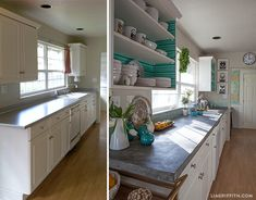 Love the concrete counter tops! Home Tour: My Kitchen in Scandinavian Style