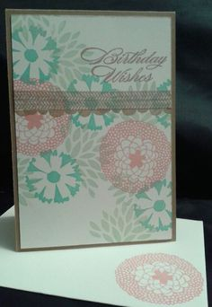 March blog hop card.  It's all about Birthdays.  Created with Petal Parade.