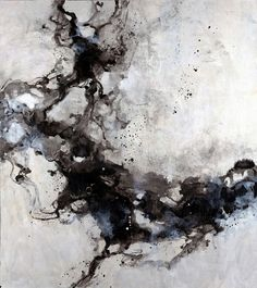 "Farrell Douglass' Black and White ""Osmosis II"" Abstract Wall Art via @greatbigcanvas"