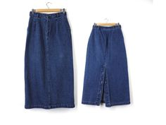 90s Denim Mini Jean Skirt - Blue - Made in Canada by London Jean ...