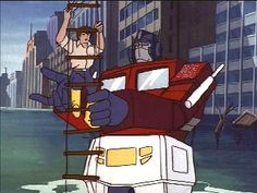 Optimus helps Spike up the ladder