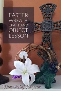 easter wreath craft and object lesson