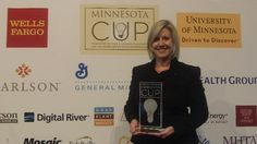 PreciouStatus founder/CEO, Julie Gilbert Newrai, wins MN Cup New Venture Competition Grand Prize! #JulieGilbertNewrai #MNCup #GrandPrize #PreciouStatus #Awards