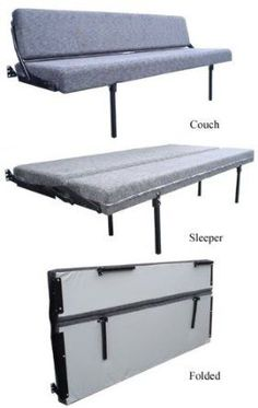 Amazon.com: RB Components Folding Sofa_Sleeper, 58-inch, Gray Cloth: Automotive - this is it