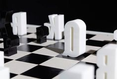 typographic chess set {in black & white}