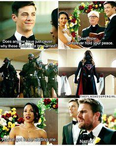 375 Likes, 4 Comments - The Flash e Supergirl ⚡ Quando Nazis te estragam o casamento Superhero Shows, Superhero Memes, Flash E Supergirl, Foto Flash, Arrow Flash, The Flashpoint, Flash Funny, The Flash Grant Gustin, Cw Dc