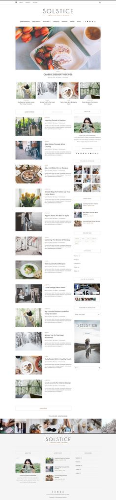 Solstice is a versatile and powerful multipurpose WordPress blog theme perfect for any personal #blog. With over 140 styling options at your fingertips. #wptheme
