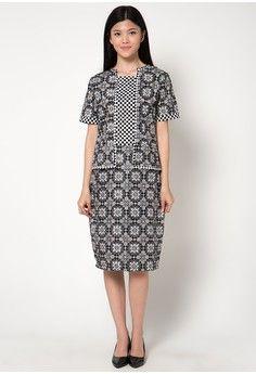 Dress Bw Kebaya from Griya Batik MAS in black and white