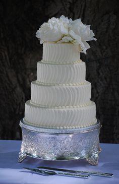 4 Tiered Round Buttercream Wedding Cake