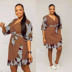 2019 Sweet and Lovely Ankara Short Gown Styles - Naija's Daily Latest African Fashion Dresses, African Inspired Fashion, African Dresses For Women, African Print Dresses, African Print Fashion, Africa Fashion, African Attire, African Wear, Ankara Short Gown Styles