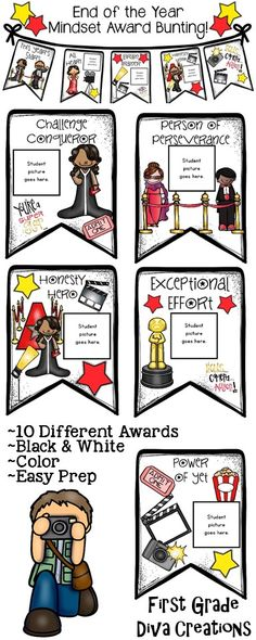 $ Roll out the red carpet and celebrate your students and their positive mindset with this fabulous Hollywood themed resource. This bunting makes an adorable display and keeps positive mindset the focus of the classroom. These are easy prep! Grab them today.