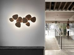 Applique a LED in faggio TRIA SET 8 by BOVER Il. Luminació