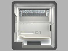 Prefab Sleepbox for Travelers - Prefab Cabins Airport Sleeping Pods, Sleep Capsule, Sleep Box, Capsule Hotel, Prefab Cabins, Portable Generator, Power Generator, Thinking Outside The Box, Dezeen