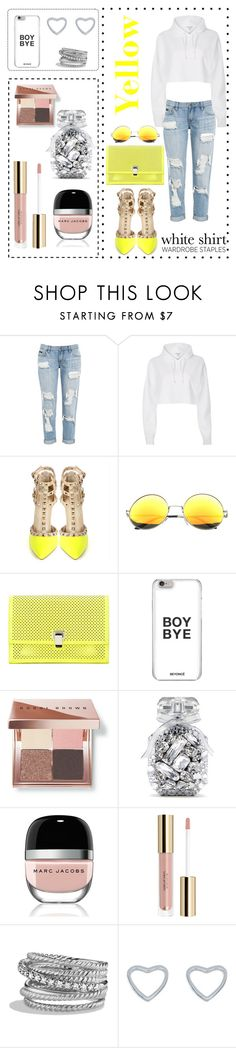 """""""Yellow is the new black."""" by maddy0428 on Polyvore featuring River Island, Proenza Schouler, Bobbi Brown Cosmetics, Victoria's Secret, Marc Jacobs, David Yurman and New Look"""
