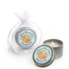 Noah's Ark - Candle Tin Personalized Baby Shower Favors $1.99
