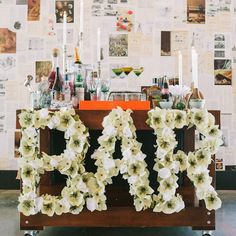 """Because flowers should always spell out the word """"bar"""" in my book :-) Kristen Julia via West Elm"""