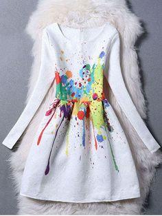 GET $50 NOW | Join RoseGal: Get YOUR $50 NOW!http://m.rosegal.com/print-dresses/elegant-long-sleeve-scrawl-print-skater-dress-for-women-552414.html?seid=7922905rg552414