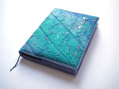 Notebook Sketchbook Journal Cover A5 Handmade by CiesseTextiles