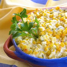 Corn baked with an irresistible combination of butter, cream cheese, and garlic. Just one taste and everyone says 'YUM! Baked Corn, Corn Recipes, Allrecipes, Casseroles, Yum Yum, Celebrations, Holidays, Baking, Vegetables