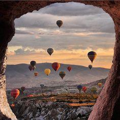 """""""Hot Air Balloons in Cappadocia #TourThePlanet Photo by @kyrenian"""""""