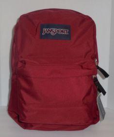 JANSPORT Superbreak Backpack Bookbag Viking Red Boys Girls New School  Burgundy  JanSport  Backpack Jansport e815b635a9