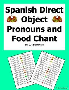 ... Pronombres on Pinterest | Spanish Practice, Spanish and In Spanish