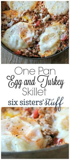 This One Pan Egg and Turkey Skillet is so easy to make and tastes delicious! I love to eat mine with avocados on top! turkey recipe One Pan Egg and Turkey Skillet Low Carb Recipes, Paleo Recipes, Cooking Recipes, Skillet Recipes, Cooking Games, Egg Recipes, Dinner Recipes, Cooking Classes, Cooking Tofu