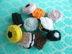 Crocheted licorice candies! So cute!