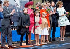 Dutch King Willem-Alexander and Queen Maxima participate in King's Day on in Dordrecht, Netherlands. (L-R) Prince Maurit. Kings Day, Paris Match, Dutch Royalty, Family Roots, April 27, Queen Maxima, Golden Girls, Crown Jewels, Duchess Kate
