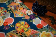 34B Little Fans Japanese Fabric Blue/Vintage by AtelierLiaSan, €4.50