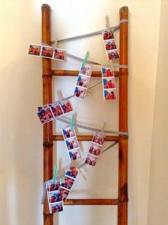 Strung with photos from a photo shoot, past photos or pretty linens, this vintage bamboo ladder is decorative and functional! - Southern Vintage Table