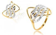 Zlatý dámsky prsteń so Swarovski kryštáľmi zo 14 karátového zlata Swarovski, Engagement Rings, Jewelry, Enagement Rings, Wedding Rings, Jewlery, Jewerly, Schmuck, Jewels