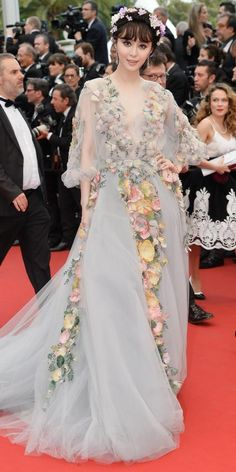 The Best of the 2015 Cannes Film Festival Red Carpet - Fan Bingbing in Marchesa with Chopard jewels.