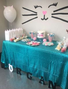 cat birthday party theme / cat birthday party ` cat birthday party ideas ` cat birthday party for cats ` cat birthday party theme ` cat birthday party cake ` cat birthday party food ` cat birthday party ideas for cats ` cat birthday party ideas decoration Birthday Tags, 9th Birthday Parties, Birthday Party Games, Birthday Party Decorations, 7th Birthday Party For Girls Themes, Second Birthday Ideas, 8th Birthday, Bolo Musical, Fete Emma