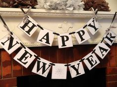 Happy New Year Banner New Years Eve Party by anyoccasionbanners