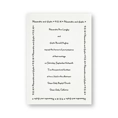 Designer Love Wedding Invitations by TheAmericanWedding.com
