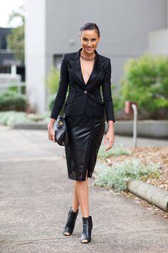 Street Style Australia Fashion Week Fall 2014 - Semana de la Moda de Austrailian Fall Street Style - bazar de Harper