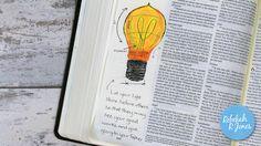 Week 30 of the original Bible Art Journaling Challenge by Rebekah R Jones.