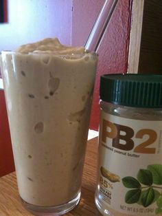 PB2 Smoothie - I think I may be trying this tomorrow but using a pinch of stevia in place of the agave