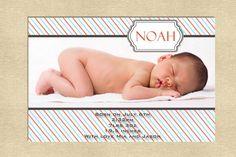Baby annoucement Newborn girl or boy you print by yellowlemons, $14.00