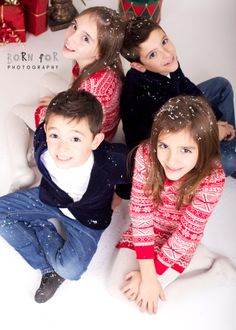 Born For Photography: Christmas photography with two sets of twins!