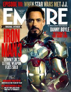 Empire's Iron Man 3 cover. Looking good, Robert Downey Jr!