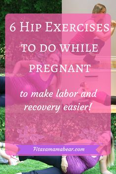Hip exercises while pregnant, pregnancy, hips, glutes, strong, expecting, mom, mom to be, fitness,
