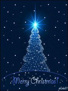 Merry Christmas to you and yours! Christmas Tree Gif, Merry Christmas Animation, Merry Christmas Images, Christmas Scenes, Blue Christmas, Christmas Pictures, Christmas Greetings, Beautiful Christmas, Christmas Lights