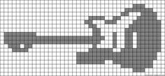 Alpha friendship bracelet pattern added by elephant. Bead Crochet Patterns, Beading Patterns Free, Crochet Chart, Cross Stitch Patterns, Peyote Patterns, Cross Stitch Bookmarks, Mini Cross Stitch, Cross Stitch Alphabet, Knitting Charts