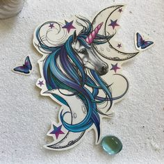 Unicorn Tattoo - Unicorn Temporary Tattoo - Purple Unicorn - Beautiful Unicorn Accessory for Unicorn Believers - I Believe In Unicorn Magic by OctaviaTattoo on Etsy