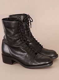 Vintage Girly Grunge Lace Up Combat Boots