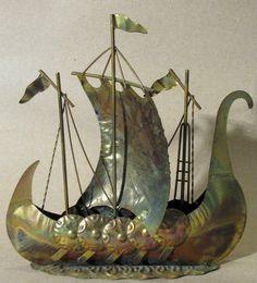 Copper Art Viking Ship